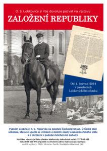plakát výstava založení republiky